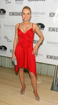 Alana Curry at the LA Confidential Magazine's Annual Oscar Party.
