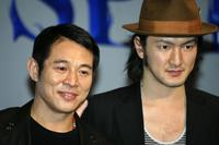 Jet Li and Shidou Nakamura at the introduction of