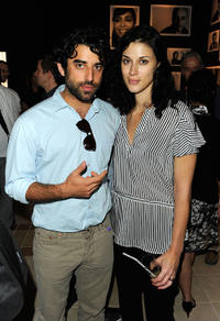 Karim Saleh and Cherien Dabis at the Brigitte Lacombe Exhibit Tour during the 2010 Doha Tribeca Film Festival.