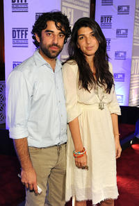 Karim Saleh and director Zeina Durra at the premiere of