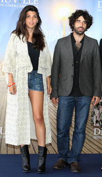 Director Zeina Durra and Karim Saleh at the photocall of