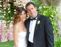 Jackie Titone and Adam Sandler at their wedding.