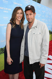 Jackie Titone and Adam Sandler at the California premiere of