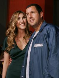 Jackie Titone and Adam Sandler at the premiere of