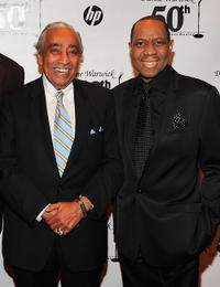 Cahrles Rangel and Freddie Jackson at the Dionne Warwick 50th Anniversary In Show Business Gala in New York.