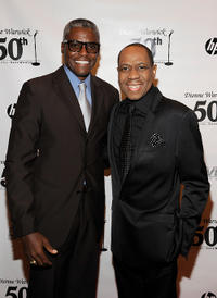 Carl Lewis and Freddie Jackson at the Dionne Warwick 50th Anniversary In Show Business Gala in New York.