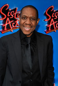 Freddie Jackson at the Broadway opening night of