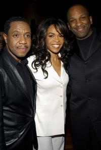Freddie Jackson, Michelle Williams and Donnie McClurklin at the after party for Williams' Broadway debut in the musical