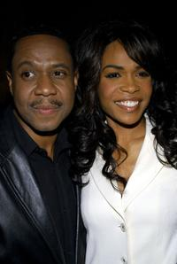Freddie Jackson and Michelle Williams at the after party for Williams' Broadway debut in the musical