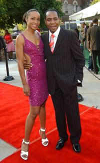 Crystal Blake and Freddie Jackson at the National Black Sports and Entertainment Hall of Fame.
