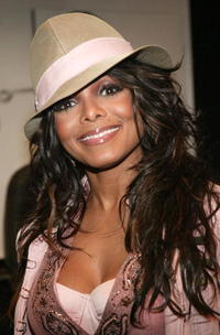 Janet Jackson at HMV in New York City.