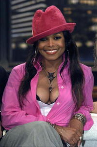Janet Jackson during the recording of a talk show in of Cologne, Germany.