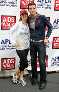 Ana Ortiz and Michael Urie at the 26th Annual AIDS Walk Los Angeles in California.
