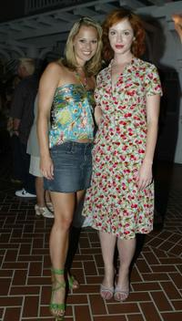 Kate Levering and Christina Hendricks at the UPN's TCA party.