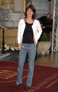 Irene Jacob arrives at the 55th San Sebastian Film Festival.