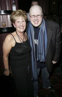 Diana Lucas and Matt Lucas at the after party following the