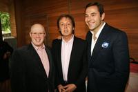 Matt Lucas, Sir Paul McCartney and David Walliams at the Meat Free Monday Launch.