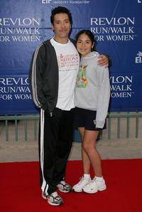 Benito Martinez and Victoria at the 15th Annual EIF Revlon Run/Walk For Women.