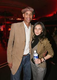 Reggie Miller and Lisa Ray at the after party of the screening of