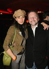 Lisa Ray and David Hamilton at the after party of the screening of