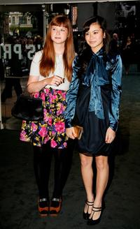 Bonnie Wright and Katie Leung at the UK premiere of
