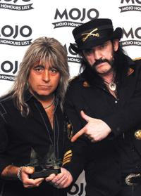 Rat Scabies and Lemmy Kilmister at the Mojo Honours List 2008 Award Ceremony.