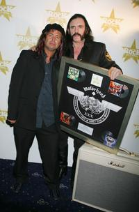 Phil Campbell and Lemmy Kilmister at the Classic Rock Roll Of Honour, the music magazine's inaugural awards.