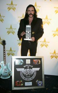 Lemmy Kilmister at the Classic Rock Roll Of Honour, the music magazine's inaugural awards.