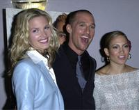 Bridgette Wilson-Sampras, Matthew McConaughey and Jennifer Lopez at the premiere of