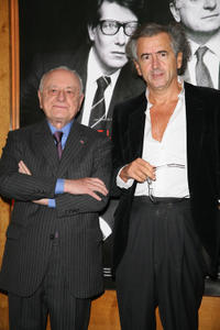 Pierre Berge and Bernard-Henri Levy at the Paris premiere of