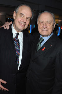 Frederic Mitterrand and Pierre Berge at the Sidaction Gala Dinner 2012 in France.