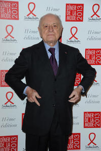 Pierre Berge at the photocall of Sidaction Gala Dinner 2013 in France.