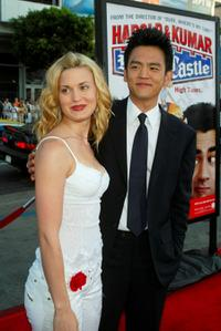 Brooke D'Orsay and John Cho at the world premiere of