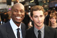 Tyrese Gibson and Shia LaBeouf at the UK premiere of
