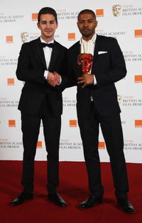 Shia LaBeouf and Noel Clarke at the Orange British Academy Film Awards.