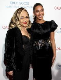 Etta James and Beyonce at the premiere of