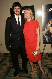 Lukas Haas and Kim Gordon at the premiere of