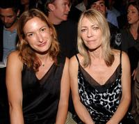 Kim Gordon and Guest at the Marc Jacobs Spring 2007 fashion show.