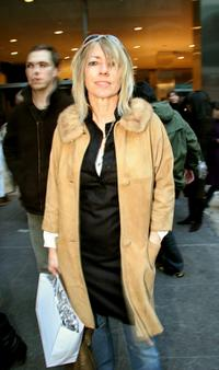 Kim Gordon at the Imitation of Christ Fall 2005 show during the Olympus Fashion Week.