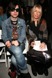 Ryan Adams and Kim Gordon at the Rodarte Fall 2008 fashion show.