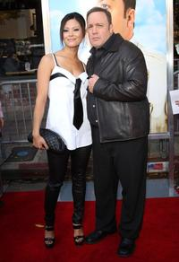 Steffiana De La Cruz and Kevin James at the premiere of