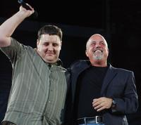 Peter Kay and Billy Joel at the Croke Park in Dublin, Ireland.