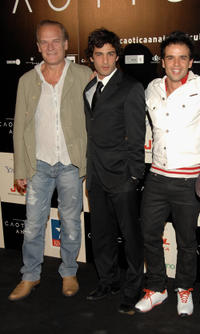 Gerrit Graham, Nicolas Cazale and Raul Pena at the Madrid premiere of ''Caotica Ana.