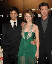 Nicolas Cazale, Manuela Velles and director Julio Medem at the Madrid premiere of ''Caotica Ana.