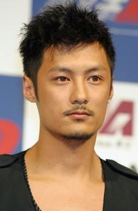 Shawn Yue at the press conference to promote