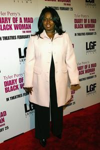 Angie Stone at premiere of