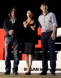 Cho Sung-Kyu, Ye Ji-Won and Kim Tae-woo at the Outdoor Greeting of