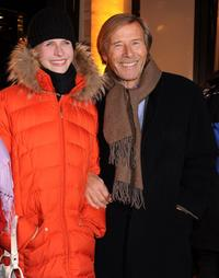 Laura Janson and Horst Janson at the opening of Gucci Store.