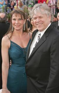 Karen Baldwin and Howard at the 77th Annual Academy Awards.