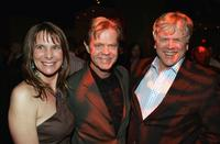 Karen Baldwin, William H. Macy and Howard Baldwin at the afterparty premiere of
